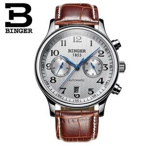 Image 2 - Switzerland Binger Luxury Brand Mens Watches Relogio Waterproof Watch Male Automatic Mechanical Men Watch Sapphire B 603 54