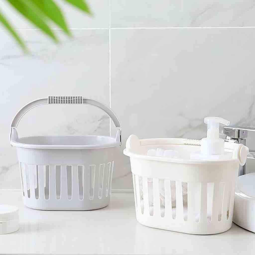 Tragbare Bad Wäsche Korb Badezimmer Körperpflege Kunststoff Storage Box Halter Organizer 2019 Neue Heiße Home Büro Lagerung YL5
