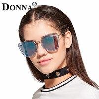 Surdimensionné lunettes de Soleil Polarisées Femmes DONNA Cat Eye Mode Dames De Luxe Vintage Marque Designer Or Rose Femme Lunettes D02