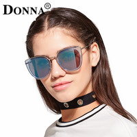 Donna Oversized Sunglasses Women Round 2016 Original Fashion Ladies Luxury Vintage Brand Designer Retro Sun