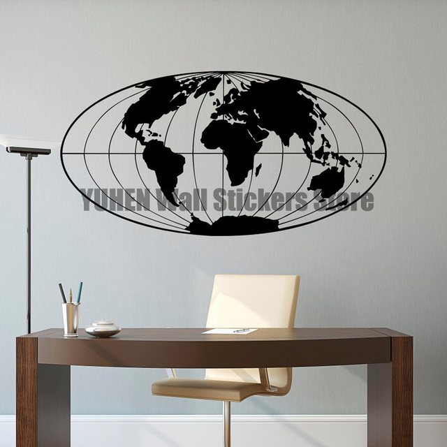 world map wall decal world map decal planet earth geographical globe