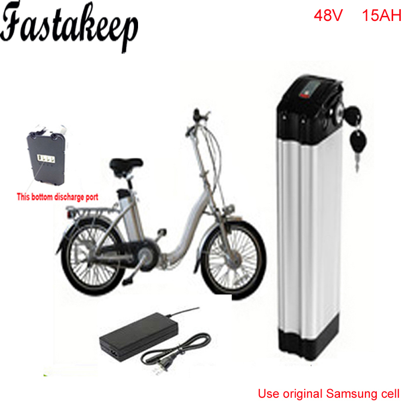 Ebike 48 v batterie vélo électrique batterie 48 V 15Ah batterie pour 48 v 1000 w bafang/8fun 750 w moteur avec boîtier en Aluminium BMS chargeur