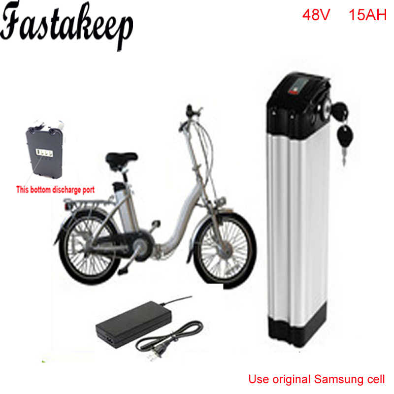 ebike 48v battery electric bike battery 48V 15Ah battery for 48v 1000w bafang/8fun 750w motor with Aluminium Case BMS Chargrer