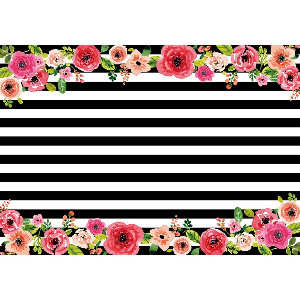 Allenjoy photo background black and white stripes flower wedding allenjoy photo background black and white stripes flower wedding party new backdrops newborn photo studio photocall backgrounds in background from consumer jeuxipadfo Gallery
