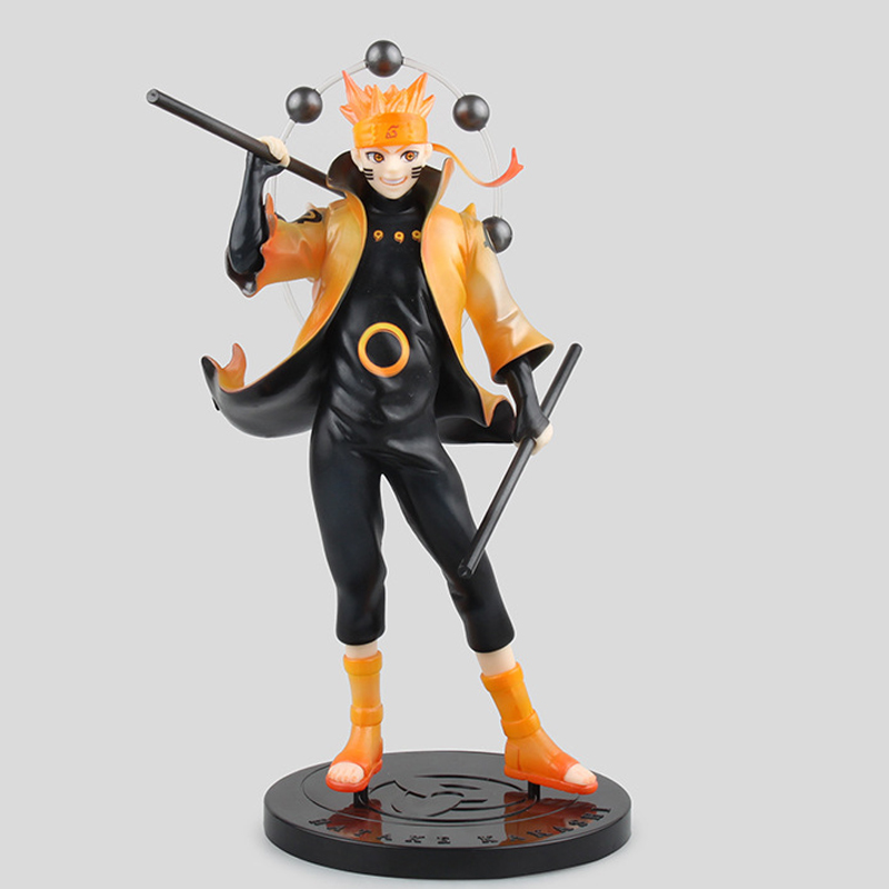 2017 New Uzumaki Naruto Rikudo Sennin Ootutuki Hagoromo Six Immortals Classic Comic Anime Naruto 21.5cm Action Figure front lace up buckles chunky heel short boots