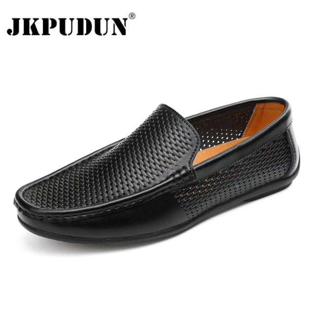 JKPUDUN Schuhes Summer Genuine Leder Men Casual Schuhes JKPUDUN Luxury Brand  Herren dff991