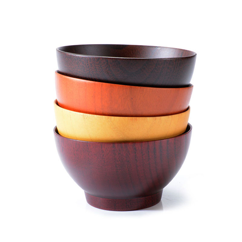 new Best Quality Wooden Bowls Kitchen Tableware For Baby Feeding Rice Soup Food Container Kitchen Accessories