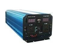 צ 'יאה חינם חדש מגיע 3000 W USB גל סינוס טהור כוח מהפך DC 12 V ל-ac 220 V שמש/רוח/מכונית/ייצור חשמל בגז ממיר