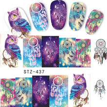 1 pcs Nail Sticker Qt Nail Owl Animal Full DIY Stamp