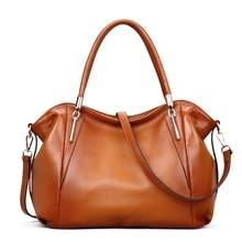 Vintage frauen Handtaschen Weichem Echtem Leder Tote Umhängetasche Hohe Qualität Kuh Leder Schultertasche Weibliche Braun Handtasche