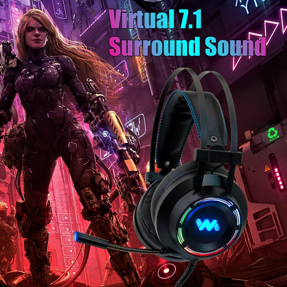 Gaming Headset Headphones with Microphone for PC Computer for Xbox One Professional Gamer Surround