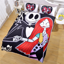 3D Christmas Eve thriller home textile Europe and the European three pieces set Bedding printing quilt oversized no bed linen