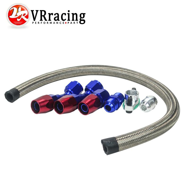 10an Turbo Steel Braided Oil Drain Return Line T3 T4 T04e T70 T60 T61 Gt35 An10 Blue And Red Vr-tol12 Carefully Selected Materials 2019 Fashion Vr Racing Fuel Supply & Treatment Engine