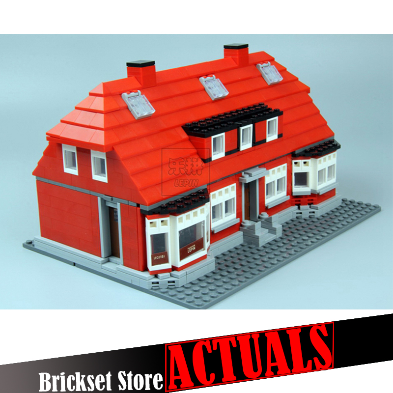 LEPIN 17006 928PCS Ole Kirk's House Modular Miscellaneous Building Bricks Blocks Toys For Children Compatible 4000007 brinquedos lepin creator home 17006 928pcs the red house set model 4000007 building kits blocks bricks educational toys for children gifts