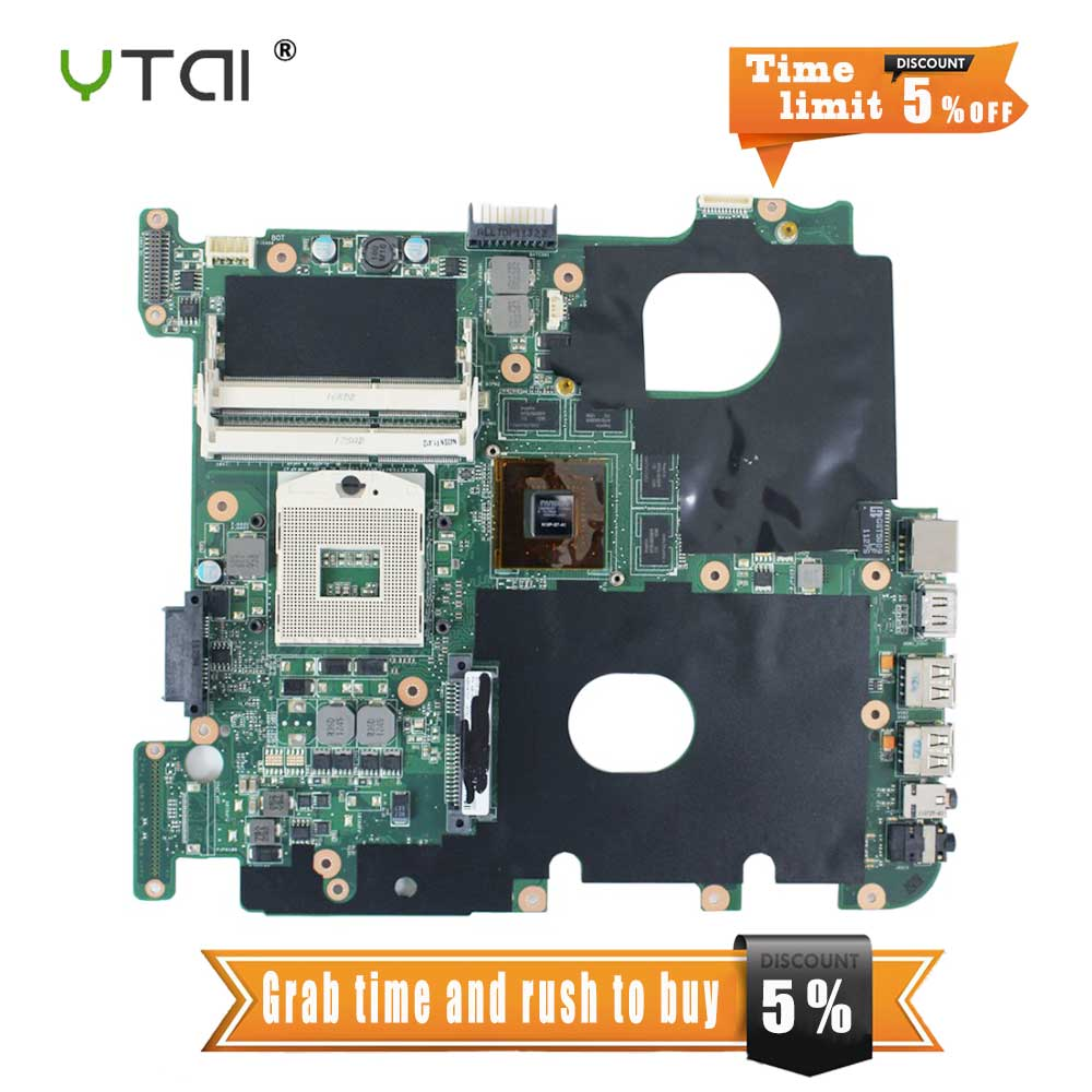 YTAI N43S N43SN N43SL mianboard for ASUSN43S N43SN N43SL laptop motherboard REV2.0 HM65 DDR3 mainboard free shipping laptop motherboard fit for acer aspire 3820 3820t notebook pc mainboard hm55 48 4hl01 031 48 4hl01 03m