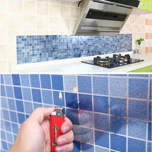 1PCS Anti-oil Wall Stickers High temperature paste kitchen Self-adhesive foil waterproof bathroom tile wall stickers A