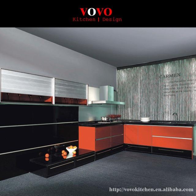 2016 Nuevo diseño contemporáneo gabinetes de cocina de alto brillo ...