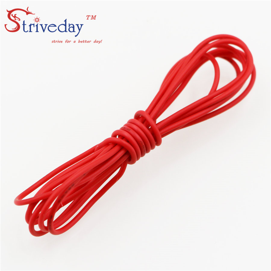 Striveday 1007 20 AWG Cable Copper Wire 1 Meter Red /Blue /Green ...
