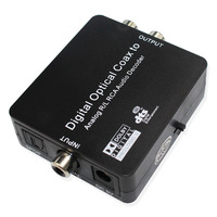 Digital Optical SPDIF Toslink Coaxial Digital To Analog Audio Decoder Converter With PCM Dolby Digital DTS