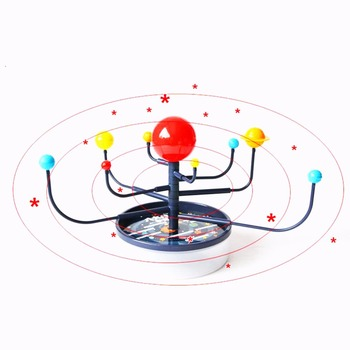 1 Pc/Box Fasinating Interesting Manual DIY 8-Planet Solar-System Model Planetarium for Children Physics & Mathematics Education image