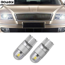 2x T10 W5W 168 194 3030SMD Error Free Parking Light Bulbs Clearance Lights For Skoda Superb Octavia A7 A5 2 Fabia Rapid Yeti