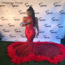 dreaming truing South African Long Red Mermaid Prom Dresses