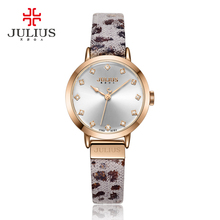 Girl's Ladies's Watch Japan Quartz Hours Nice Style Costume Bracelet Leather-based Leopard Panther Print Lady Present Julius Field