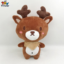 23cm Simulation Deer Plush Toy Stuffed Wild Animal Doll Baby Kids Birthday Gift Home Shop Decor Craft Triver Drop Shipping
