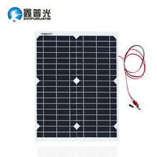Xinpuguang 20W 18V Flexible Solar Panel Transparent led Light and Durable Cell Module DIY RV Marine Outdoor boat Car LED Camping