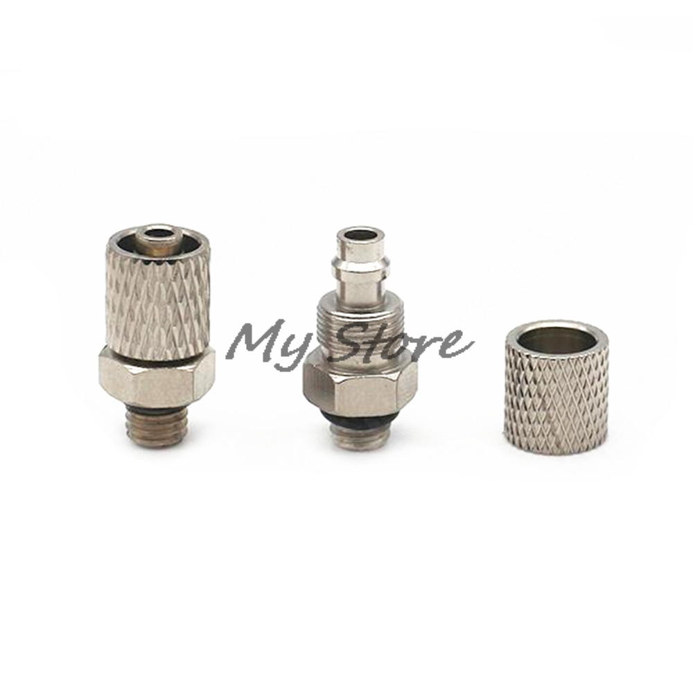 precision Fast twist joint Fittings 4mm 6mm Pneumatic Tube to M5 Male Thread Hose Mini Barb Fittings tube size 14mm 1 4 pt thread pneumatic