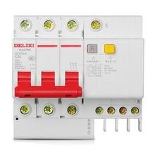 Miniature Circuit Breaker Air Switch DZ47sLE 3P+N  DELIXI MCB 3Pole +N C Curvers 6A-63A 6A 10A 16A 20A 25A 32A 40A 50A 63A