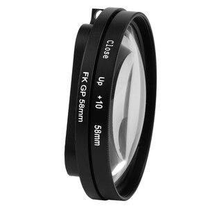 Image 5 - SHOOT 58mm grossissement objectif rapproché objectif Macro pour Gopro Hero 7 6 5 noir coque étanche dorigine Go Pro 6 5 7 accessoires