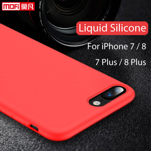 For iPhone 7 Case Liquid Silicone Gel Rubber Case Smooth Protective Mofi Official for Apple iPhone 7 iPhone7 Plus Case Cover