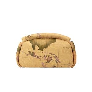 Image 5 - Retro Pouchy seyahat için sırt çantası Yüksek Kapasiteli Deri okul sırt çantası Dünya Haritası Baskı Sırt Çantası Iki Çanta Bir Set