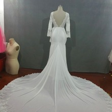 kejiadian 2018 arraival Sexy wedding Dresses long sleeves