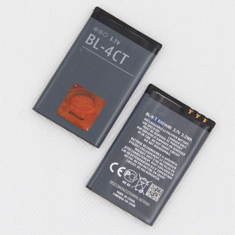 2pcs/Lot ISUNOO Replacement PHONE <font><b>Battery</b></font> BL-4CT 860mah For BL4CT <font><b>NOKIA</b></font> <font><b>5310</b></font> 6700s 7310c 5630 7230 X3 image