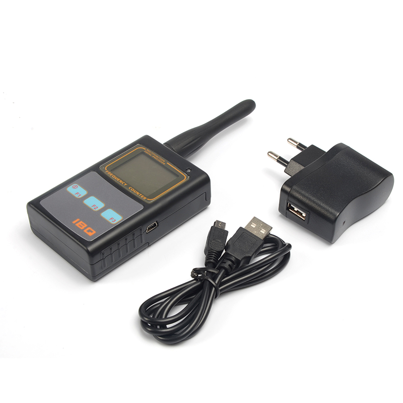 Ibq 101 digital contador de frecuencia medidor de mano con UHF antena analizador medidor de frecuencia 50 MHz-2.6 GHz para dos manera Radios