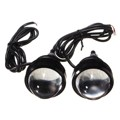 2 Unids Coche 5 W LED DRL Daytime Running Light Fog Proyector Blanco Del Xenón Faros Impermeables Para SUV 12/24 V