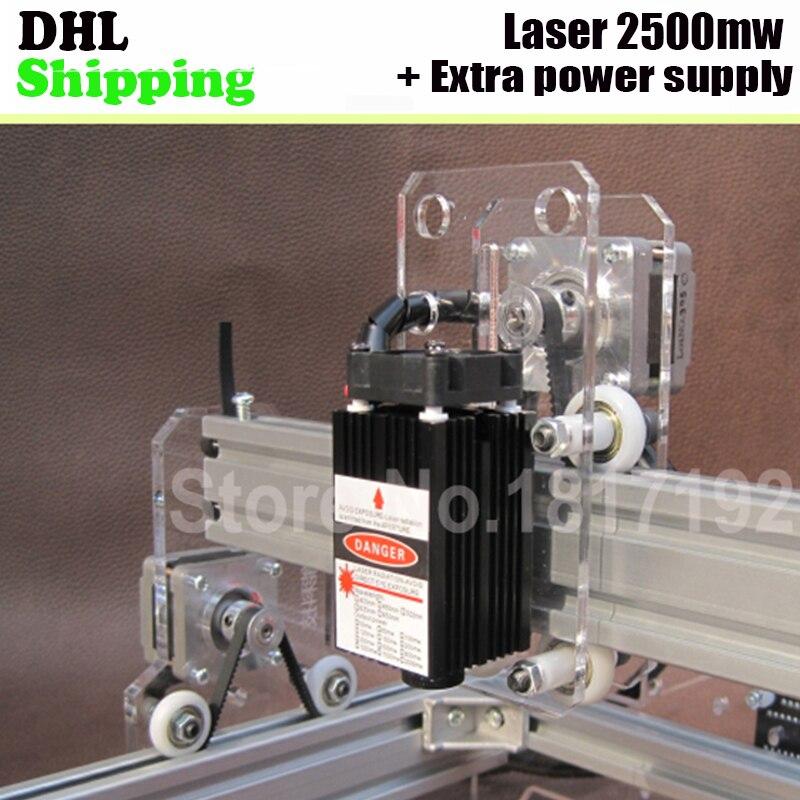2500mW Blue violet Laser Module Parts with Holder Heat sink for Mini Laser Engraving font b