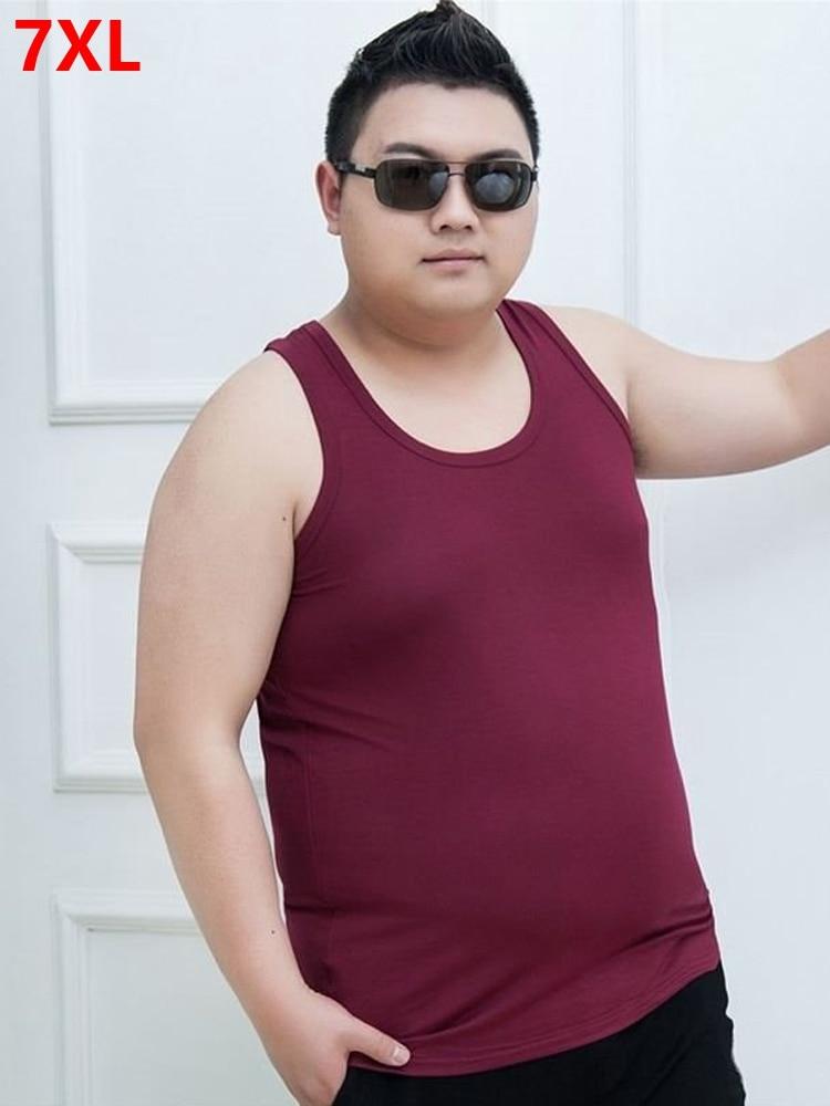 7XL   Tank     Tops   men XL men's sweat Big yards men's Vest vest summer super large men's Sleeveless cotton undershirt big size