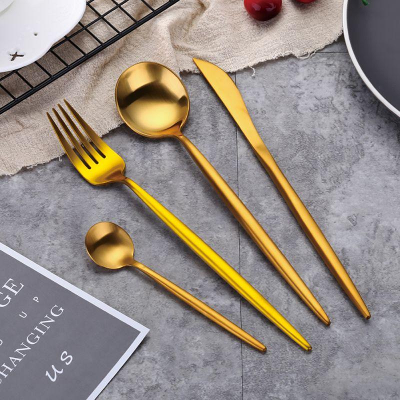 2018 European Dinner Set Dinnerware Set Kitchen Knife Western Food Tableware Stainless Steel Cutlery Kitchen Supplies 4pcs/set