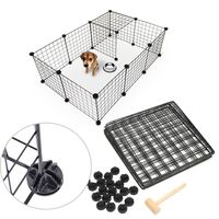 Pet Playpen Bunny Cage Fence DIY Small Animal Exercise Pen Crate Kennel Hutch for Guinea Pigs & Rabbits Upgrade Version