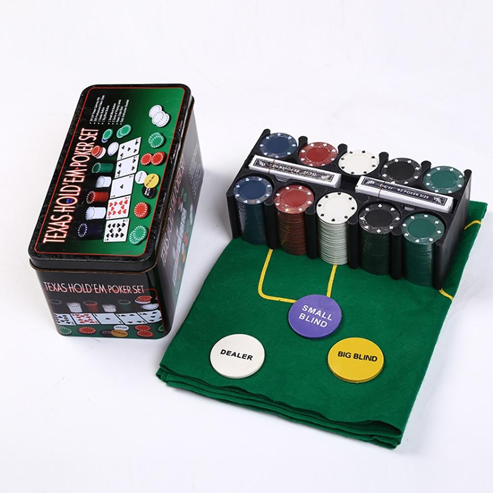 200pcs Adult Fun Club Toy Portable Casino Aluminium Case With Chips Lightweight Game Poker Set Entertainment Plastic Digital