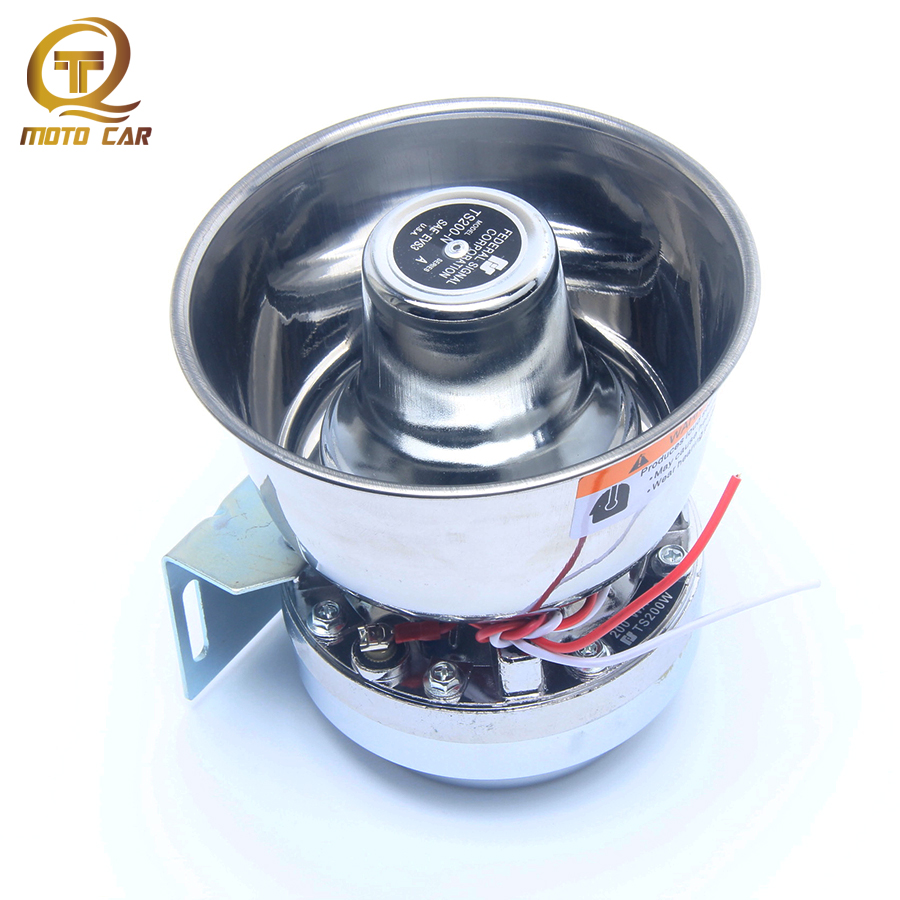 1pcs Universal Metel Train Horn DC12V 200W Power 8 Ohms Super Loud Warning Alarm Siren Car Motorcycle Ship Boat Electronic Horn 11 09 universal cute beetle style electronic horn for bike pink black 2 x aa