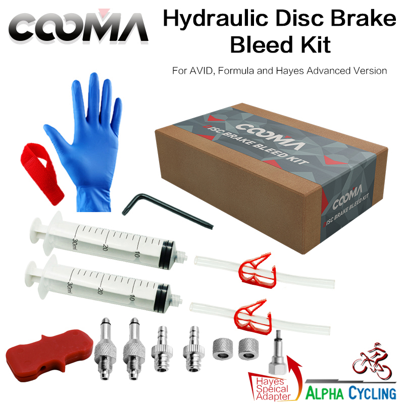 Bicycle Hydraulic Brake Bleed kit for AVID, Formula and Hayes, Advanced Version, V1.2