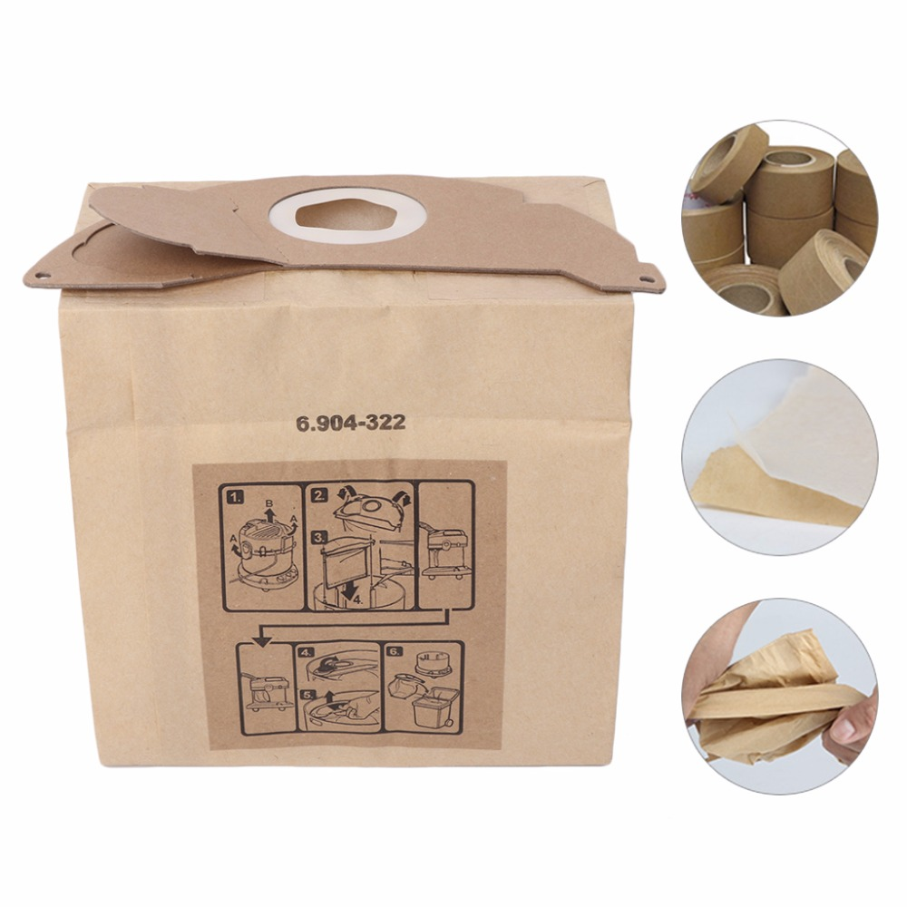 цена на Universal Vacuum Cleaner Bags Paper Dust Hoover Bag Replacement For KARCHER MV2