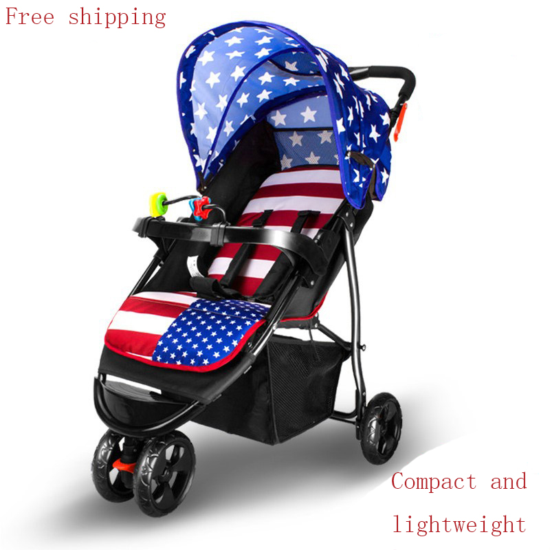 Baby stroller light folding tricycle shock absorbers baby car umbrella summer child trolley