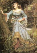 John William Waterhouse: Ophelia SILK POSTER Decorative painting  24x36inch