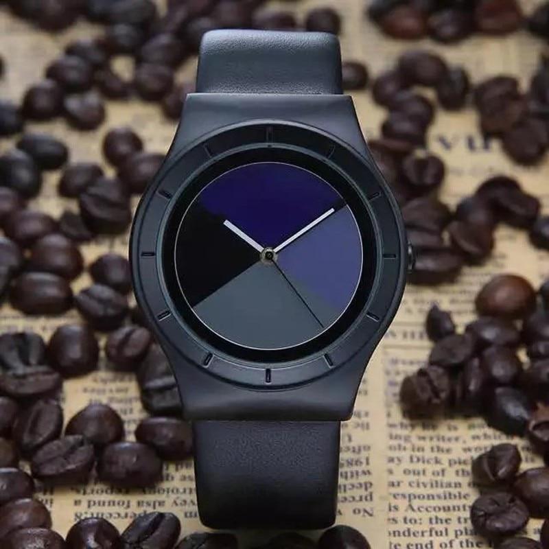 2016 BREAK Style Futuristic Luxury Brand Men Women Dress Leather Watches Hour Clock Men Fashion Casual Watch Unisex Quartz Watch