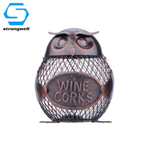 Simple Owl Coin Bank Miniature Figurine Iron Money Box Crafts Model Desktop Home Decoration Accessories Borthday Gift Kids Toy
